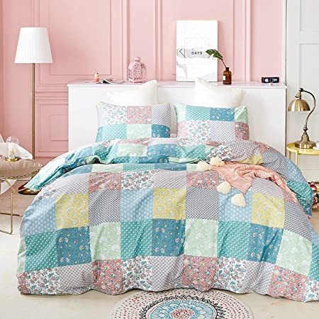 Quilte for girl Pink Quilt Linen bed quilt Modern Quilt Multicolor