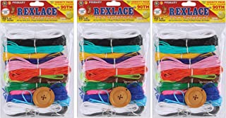 Pepperell Rexlace Plastic Lacing Cord, 450-Feet, Primary (Pack of 3)