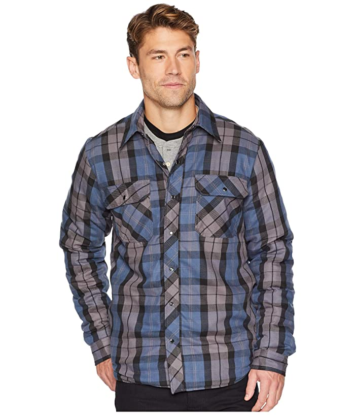 Dickies Modern Fit X-Series Snap Front Shirt Jacket (Insignia Blue/Charcoal Plaid) Men