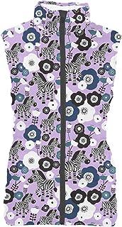 Rainbow Rules Zebra Blossoms Mens Puffer Vest Bodywarmer Gilet