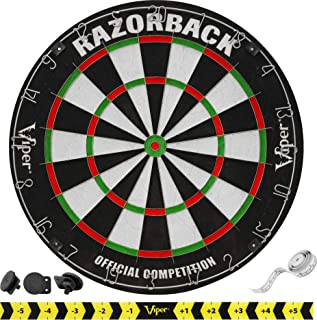 Viper Razorback Official Competition Bristle Steel Tip Dartboard Set with Staple-Free Razor Thin Metal Spider Wire for Inc...