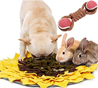 Snuffle Mat for Dogs Feeding Mat with 2 in 1 Chew Throwing Toy Interactive Dog Food Puzzle Encourages Natural Foraging Ski...