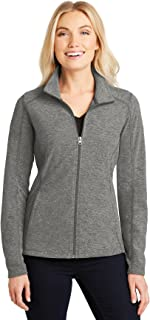 Ladies Heather Microfleece Full-Zip Jacket. L235