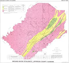 Historic Pictoric Map : Water Availability, Jefferson County, Alabama, 1976 Cartography Wall Art : 24in x 22in