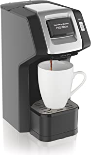 Hamilton Beach (49974) Single Serve Coffee Maker,Compatible withpod Packs and Ground Coffee, Flexbrew, Black