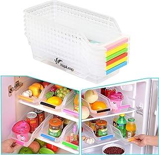 HapiLeap Réfrigérateur Organiseur de Rangement Durable Fruits Panier de Cuisine à Manche Collecteur Support Panier Boîte (...