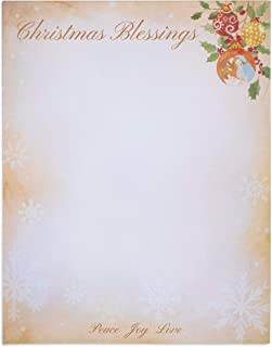 Christmas Blessings Letterhead Stationery Printer Paper, Letter Size (96 Sheets)