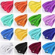 Latocos 16 Piezas Cordón Elástico Colorido 6mm Cintas Elásticas Plano Goma Elastica Bandas Cuerda para Costura Diy Manualidades Ropa