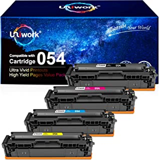 Best Uniwork Compatible Toner Cartridge Replacement for Canon 054 Cartridge 054H CRG 054 use for Color Image Class MF644Cdw LBP622Cdw MF642Cdw MF640C MF641Cw LBP620 Printer (Black, Cyan, Magenta, Yellow) Review