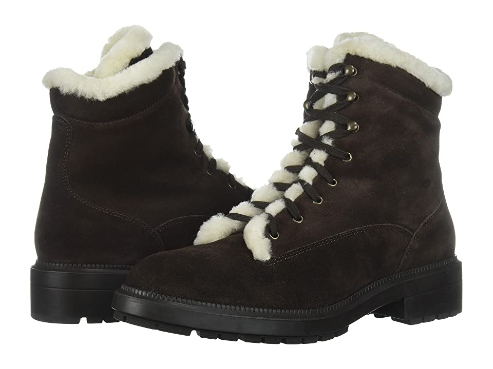 Aquatalia Lenore (Dark Brown Suede/Shearling) Women