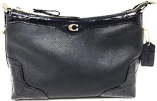 Small East West Ivie Shoulder Bag Handbag with Crocodile Embossed Leather