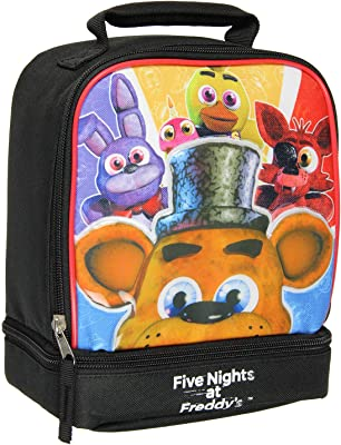 Five Nights at Freddy's Dual Compartment Soft Insulated Lunch Box Tote