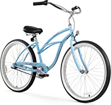 Firmstrong Urban Lady 3-Speed Beach Cruiser Bicycle, 26-Inch, Baby Blue