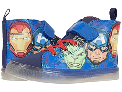 Favorite Characters Avengerstm Lighted Canvas High-Top AVF712 (Toddler/Little Kid) (Blue) Boy