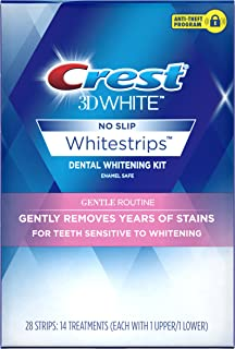 Crest 3D White Whitestrips Gentle Routine Teeth Whitening Kit, 14 Treatments