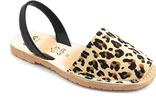 menorca Damen ria Leopard Mehrfarbig Sandalen c04cdgptu35397