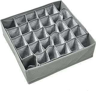 TRIXES Storage Box for Socks Ties Underwear Drawer - Wardrobe Organiser Container