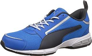 Puma Men's Triton Idp Electric Blue Lemonade, Dark Shadow and Puma White Running Shoes - 9 UK/India (43 EU)(19025705)