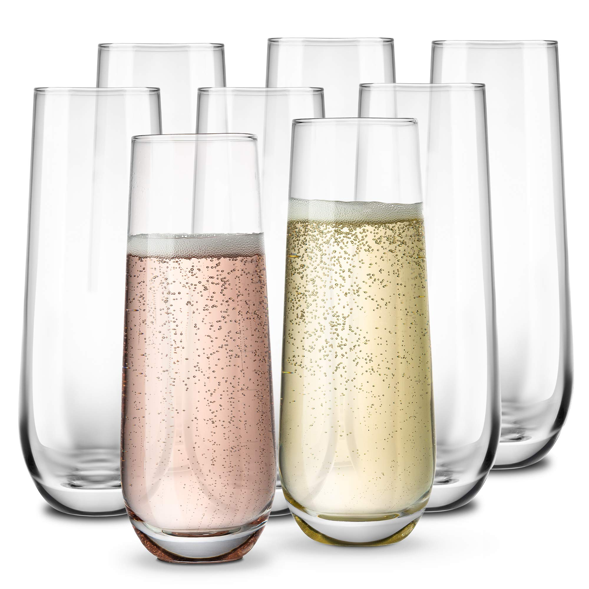 Stemless Champagne Flutes KooK Durable