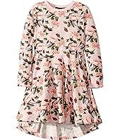 Shabby Chic Long Sleeve Waisted Dress (Toddler/Little Kids/Big Kids)