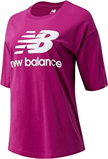 New Balance Women Nb Essentials Stacked Logo Tee Top Lifestyle Jewel