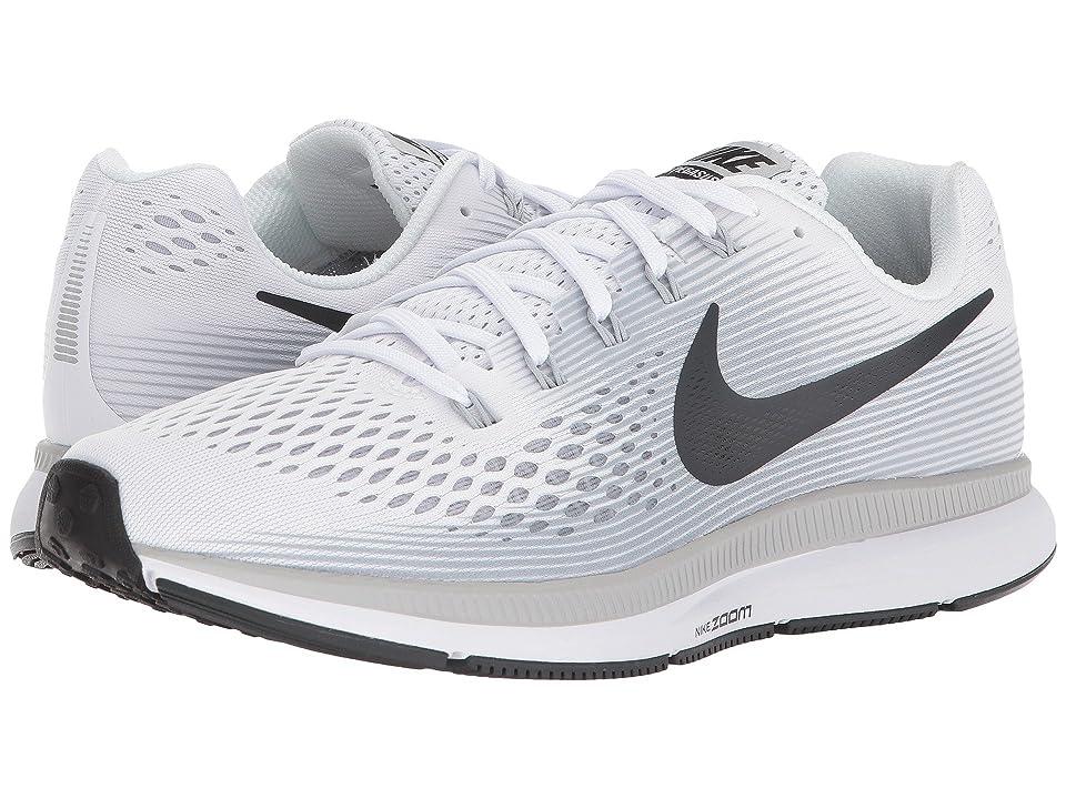 Nike Air Zoom Pegasus 34 (White/Anthracite/Pure Platinum/Wolf Grey) Men