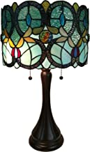 Amora Lighting Tiffany Style Table Lamp Banker Floral 21