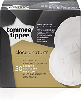 Tommee Tippee Closer To Nature Disposable Breast Pads, 50 Count White , Tt43123840