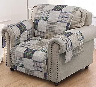 Greenland Home Oxford Slipcover, Arm Chair, Plaid
