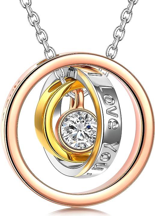 Regalo san valentino - ciondolo in oro rosa,cristallo di swarovski, lunghezza della catena 45 cm, regalo donne KINS5410BBL