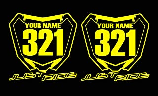 JUST RIDE Motocross Number Plate Replica Decal Stickers RM RMZ