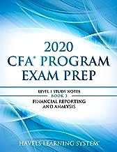 2020 CFA Program Exam Prep Level 1: 2020 CFA Level 1, Book 3: Financial Reporting and Analysis (2020 CFA Level 1 Exam Prep)