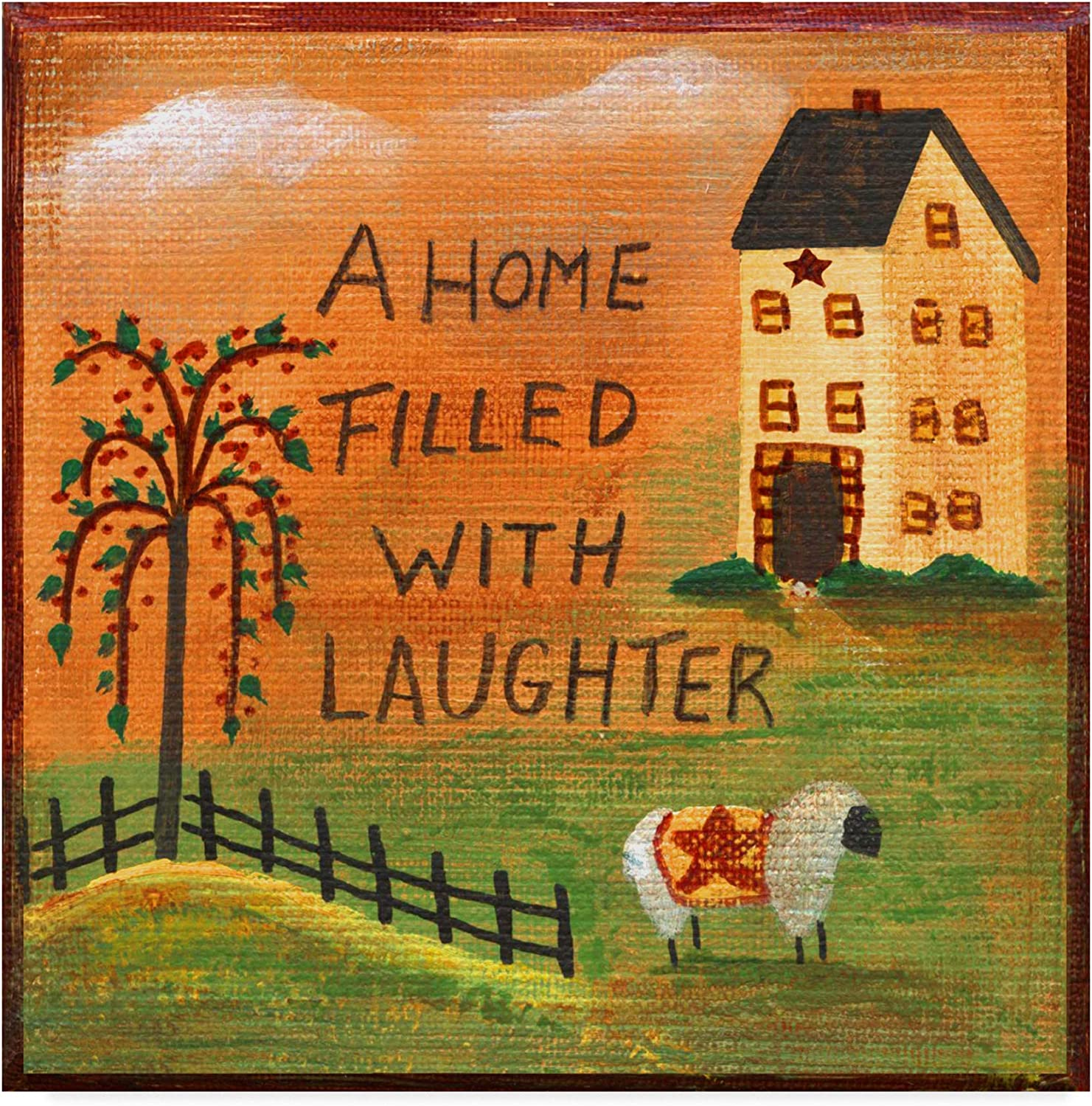 Trademark Fine Art A Home Filled with Laughter by Cheryl Bartley, 14x14 Fine Art, Multicolor