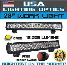 28 inches Dual Row High Power 180 watts Cree SMD LED Light Bar by USA Lighting OpticsTM 4x4 Polaris RZR UTV Raptor Jeep Rock Light