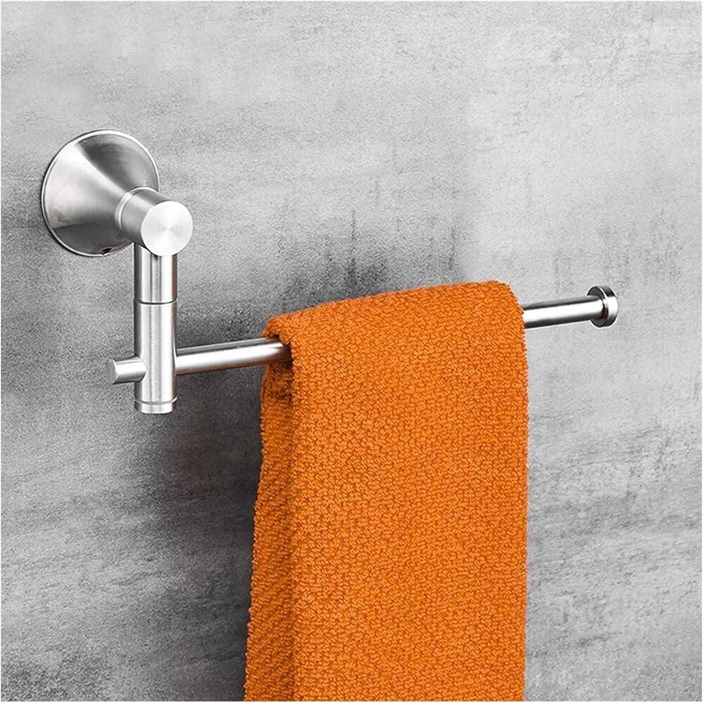 Under blast sales Towel Racks Swivel Rail Stainless Weekly update Wall-Mounted 304 Chrome