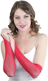 ToBeInStyle Women's Fishnet 100% Nylon Finger Loop Arm Length Warmers