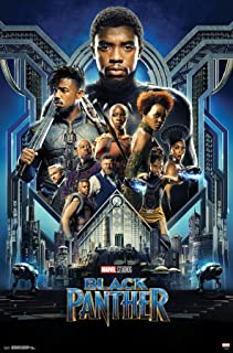 Trends International MCU-Black Panther-Group One Sheet Mount Wall Poster, 22.375