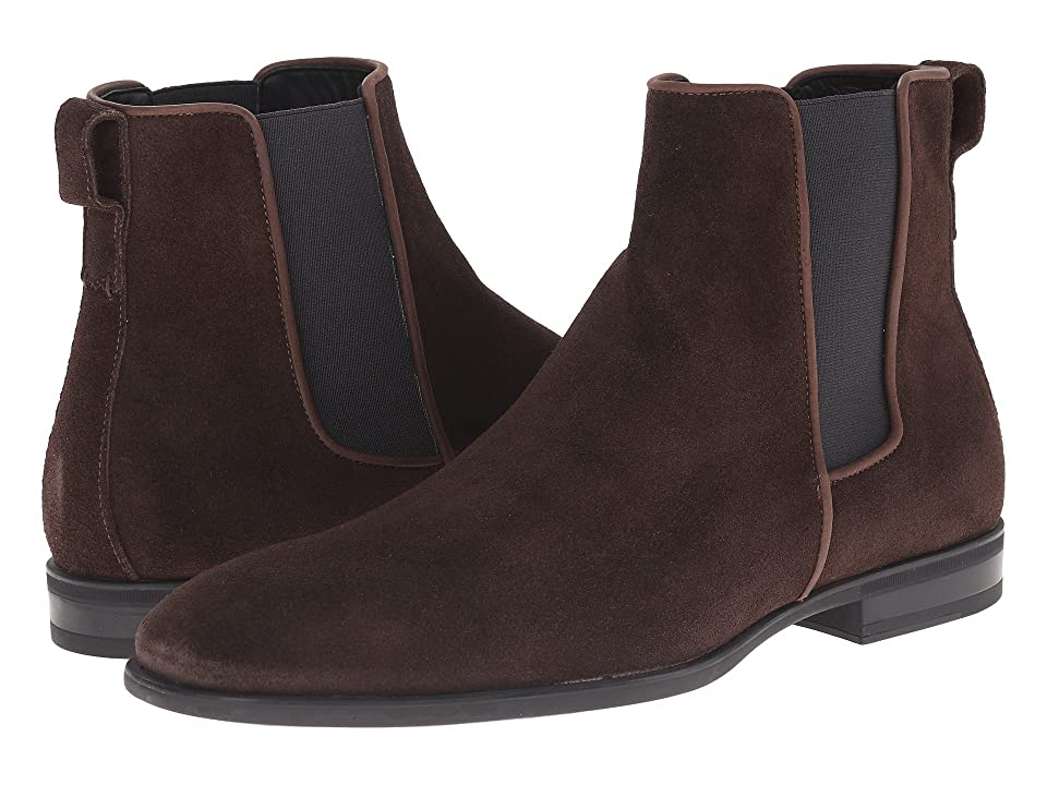 Aquatalia Adrian (Dark Brown Dress Suede) Men