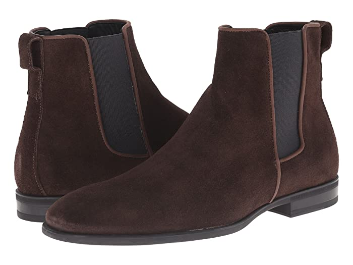 Aquatalia  Adrian (Dark Brown Dress Suede) Mens Pull-on Boots