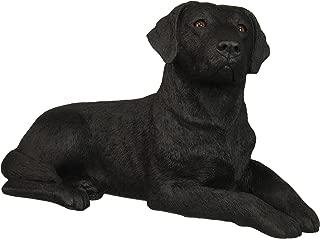 Sandicast OS380 Original Size Black Labrador Retriever Sculpture, Lying