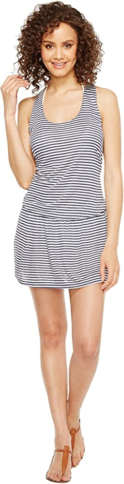 Malibu Stripe Dress Cover-Up