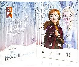 Disney Frozen 2 Calendrier De L'avent 2019 - Calendrier de l'avent Frozen La Reine des Neiges 2 avec Bijoux Fantaisie pour Enfant Fille - Comprend 24 Cadeaux Différents à Découvrir