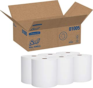 Scott Essential High Capacity Hard Roll Paper Towels (01005), White, 1000' / Roll, 6 Paper Towel Rolls / Co...