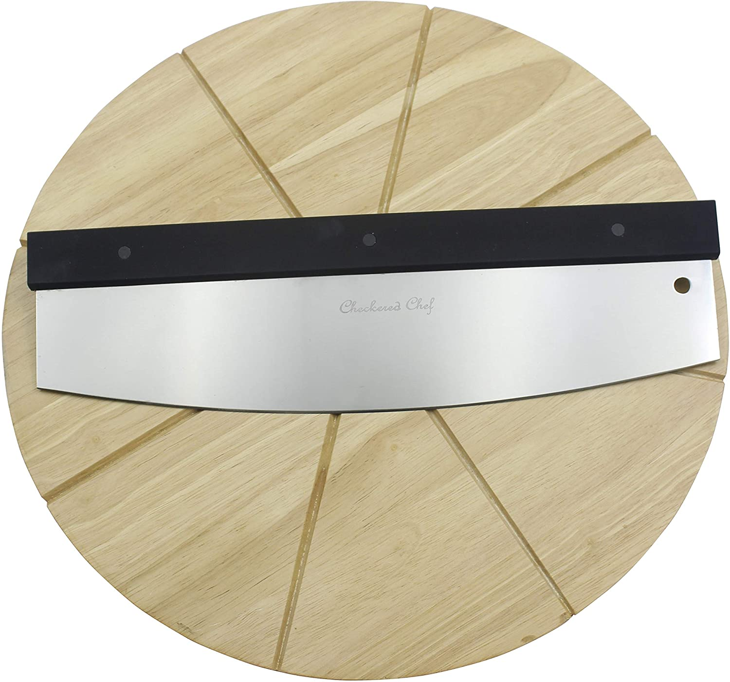 Checkered Chef Premium New products, world's highest quality popular! Pizza Cutter and Board - Recommended Set Rock Cutting