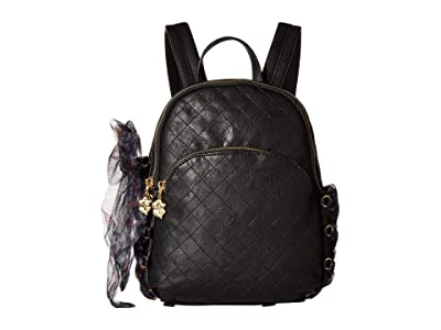 Betsey Johnson Love Shack Lacing Small Backpack (Black) Backpack Bags