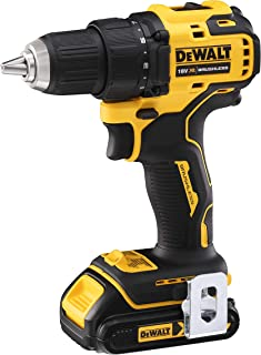 DeWalt 18V 13mm Drill Driver Compact Cordless 1.5AH with Extra Battery, Yellow/Black, DCD708S2T-GB, 3 Year Warrnty