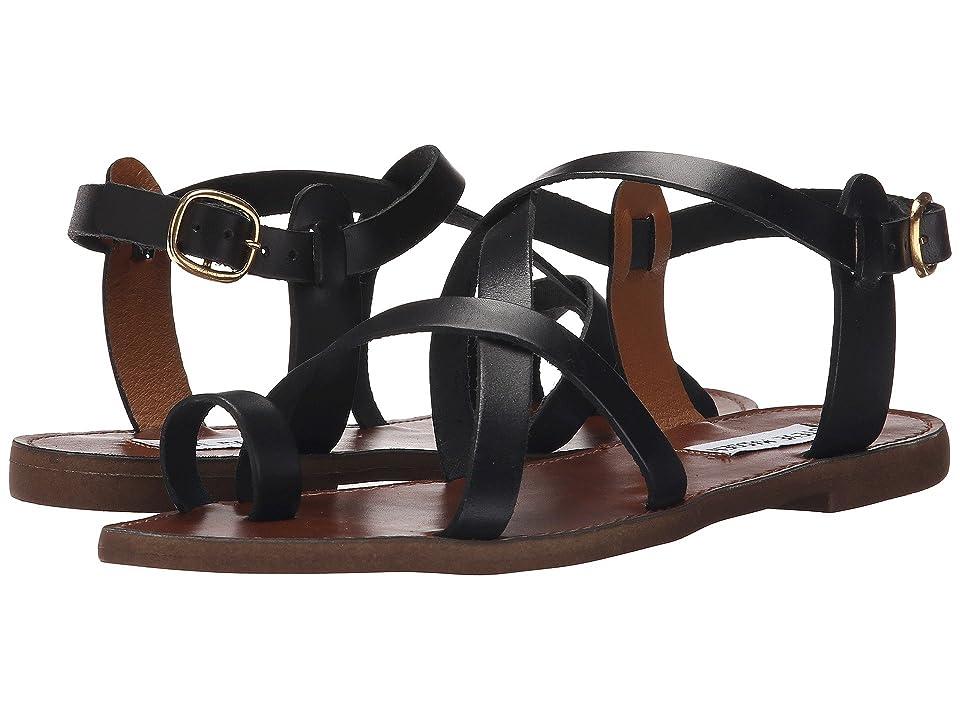 Steve Madden Agathist Sandal (Black Leather) Women