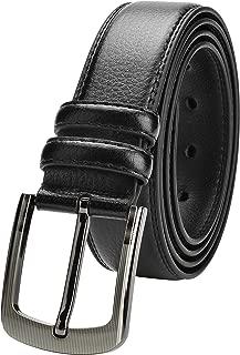 VRLEGEND Cintura da Uomo Pelle Uomini Normali//Grandi 110 cm-180 cm con Fibbia Rimovibile,Regolabile Cinture per Jeans,Pantaloni Casual o Formali Confezione Regalo Inclusa