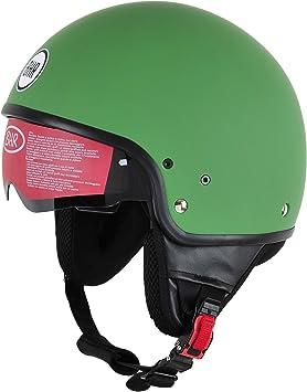 Bhr Motorrad Helm 802 Demi Typ Mit Visier Versenkbare Matt Grün S 55 56 Cm Auto