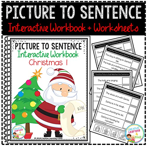 Christmas picture to sentence interactive workbook